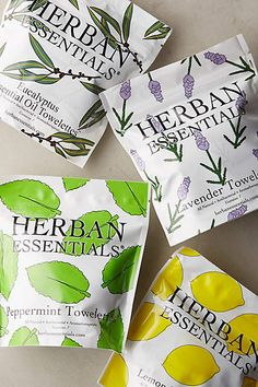 Herban Essentials Towelettes - great gift or stocking stuffer.