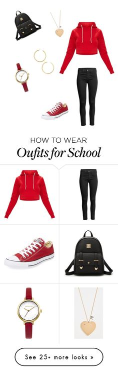 """Untitled #1"" by liannsanchez2 on Polyvore featuring Converse, Karen Millen, Tory Burch and BaubleBar"