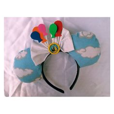 OHMYGOSH I WANT THESE! Pixar Up House Minnie Mouse Ears by lydiaatthedisco on Etsy, $22.00