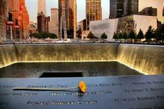 Twin Towers memorial. We will never forget.