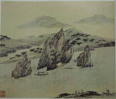 도담삼봉도 - 김홍도.