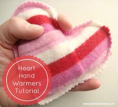 Heart Hand Warmers Tutorial Submitted to InspirationDIY.com