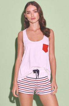SOLID & STRIPED Pocket Tank Top (Women) available at #Nordstrom