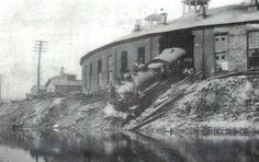 Historic Photos Baltimore 1870 1950   Locomotive that didn't quite stop in Conemaugh