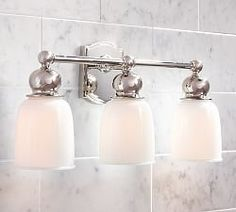 Pearson Sconce Triple Polished Nickel Finish Bath Chrome Finish - Triple bathroom sconce