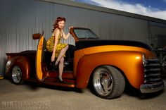 Leopard Print in Hot Rod Truck | Angela in Hot Rod truck | Flickr