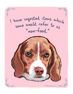 Beagle 8x10 Print of Original Painting with phrase on Etsy, $20.00