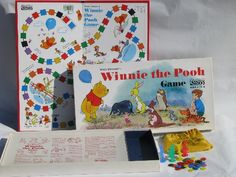 1960S Board Games | 1960s vintage Winnie the Pooh board game, bright plastic counters... IN SEARCH OF THIS VINTAGE GAME, BUT GARAGE SALES ARE HERE SO MaYbE I WILL FIND ONE, SMILES... YOU HAVE 1 YA MAY WANNA SALE FOR A GOOD PRICE? JUST LET ME KNOW PLEASE?