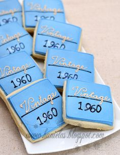 50th Birthday Cookies..You can use any year that the guest of honor was born.  Maybe for Gma's 90th?