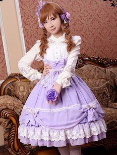 Lavender Bows Chiffon Lolita Tunic for Women-No.2