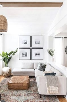 Beautiful Living Room Ideas I Love Beautiful neutral living room decor - leclair designs My Living Room, Home And Living, Modern Living, Minimal Living Rooms, Living Room With Plants, Living Room Artwork, Danish Living Room, Bright Living Room Decor, Scandi Living Room