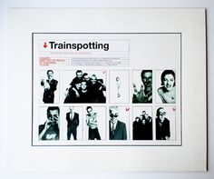 Trainspotting early poster rough. Early visual / design proposal for the Trainspotting poster. Design Mark Blamire & Rob O'Connor [Stylorouge]. Photography Lorenzo Agius.   http://www.flickr.com/photos/blankaposters/5505860763/in/photostream