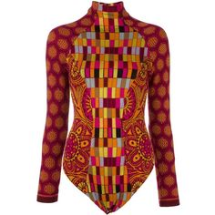Christian Lacroix Vintage intarsia knit patterned body (1.650 BRL) ❤ liked on Polyvore featuring tops, long sleeve tops, long sleeve turtleneck top, christian lacroix, long sleeve turtleneck and multi color tops