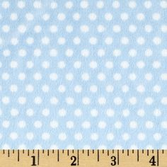 Minky Cuddle Classic Swiss Dot Baby Blue/White from @fabricdotcom. Cute match to my bunting in minky fabric.