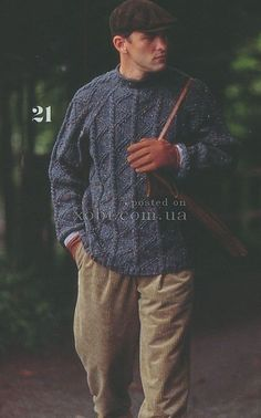 синий мужской пуловер