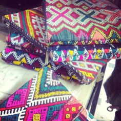 Kelim fabrics... #clutch #bags #patterns