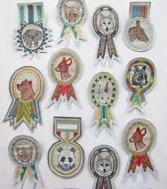 Coral & Tusk - embroidered badge and medal pins