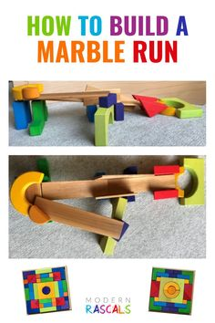 Have the Grimms standard and basic building sets? Want to learn how to turn them into a fun and interactive ball or marble run? In this tutorial, we show you exactly how to do just that. If you want to have a kids ball run in your open ended playroom, this is a must read! Grimm's Toys, Baby Toys, Kids Toys, Building Toys For Kids, Imaginative Play, Diy Tutorial, Roads, Wooden Toys, Playroom