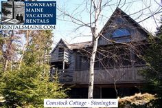 See 1 photo from visitors to Downeast Maine Vacation Rentals. Maine Vacation Rentals, Blue Hill, Coastal Cottage, Tours, Cabin, House Styles, Places, Home, Cabins