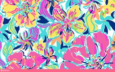 Personalized Lilly Pulitzer Wallpapers Simple Colorful Pink Yellow Blue Collection Adjustable create lilly pulitzer wallpapers a monogram with high resolutions Wallpaper Design