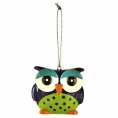 """Hoot-n-Peppers Mix & Match Salt and Pepper Shakers (Blue/ Green) by Amscan. $7.95. Ceramic. Sold individually. 1 3/4"""" x 2"""" x 1 3/4"""". It's your pick! Our Hoot-n-Peppers Mix & Match Salt and Pepper Shakers come in six irresistible designs with sweet expressions. Shakers have either two or three holes for salt or pepper and are sold individually. Snip string before use."""
