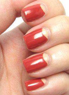 Dita Von Teese Inspired Nails French Tips, French Tip Nails, Half Moon Manicure, Dita Von Teese, Creative Nails, Nail Care, Hair And Nails, Nail Ideas, Stamping