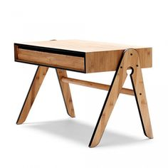 We Do Wood børnemøbler - Geo´s Table - Tinga Tango Designbutik Table Furniture, Kids Furniture, Office Furniture, Furniture Design, Drawer Design, Style Retro, Wood Desk, Decoration Design, Wood Accents