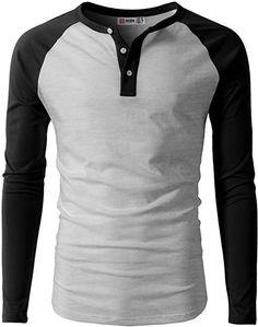Men's Casual Slim Fit Henley Shirt Long Sleeve Lightweight Cotton T-Shirts Women's Henley, Henley Shirts, Men's Shirts, Mens Boots Fashion, Fashion Pants, T Shirt, Men Casual, Quarter Sleeve, Men's Clothing