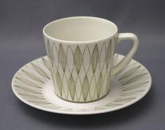 Arabia, kahvikuppi, Vuokko, Raija Uosikkinen Kitchenware, Tableware, Ceramic Painting, Vintage Ceramic, Bone China, Finland, Scandinavian, Tea Cups, Retro