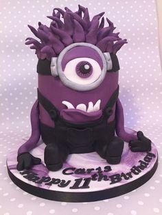 11th birthday purple minion cake