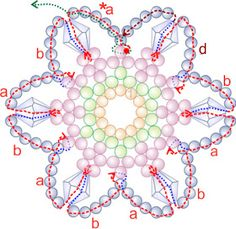 Free Bead Patterns and Ideas : Snowflake #7 Ornament Pattern
