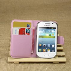 For fame S6810 Case Wallet Flip PU Leather Cover Case For Samsung Galaxy Fame S6810 With Card Slots Holder