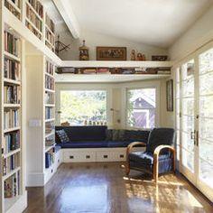 contemporary family room by Studio Bergtraun AIA