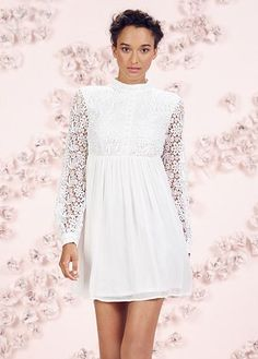 LC Lauren Conrad Runway Collection Lace Babydoll Mini Dress - Women's