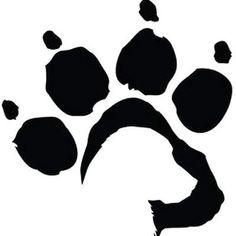 Golden Retriever Dog Paw Tattoo Design