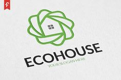 Eco House Logo by ft.studio on @Graphicsauthor