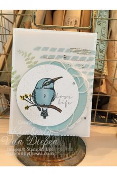 New Sale-a-Bration products are in the house. This cute chubby bird is adorbs from A Happy Thing stamp set from Stampin Up!