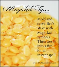 The Magick Kitchen Magickal Tips Instant Bee's Wax Spell
