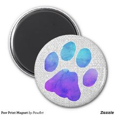 Shop Paw Print Magnet created by PawArt. Paw Print Art, Printed Magnets, Dog Lover Gifts, Dog Mom, Rescue Dogs, Cats And Kittens, Cat Lovers, Personalized Gifts, Kitty