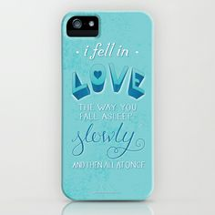 TFIOS: Fell in Love iPhone & iPod Case by Jess Matthews Design - $35.00