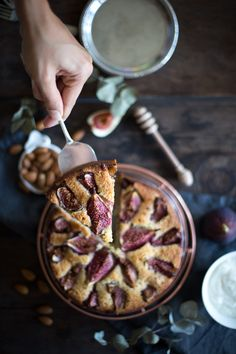 Ottolenghi's Fig Almond Cake. #desserts #Christmas #cakes
