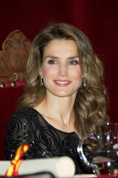 November 7, 2013, Her Royal Highness Princess Letizia of Asturias participated in the induction ceremony of novelist and professor of Literature at the Universidad Autónoma de Barcelona, Ms. Carme Riera, into the Real Academia Española (RAE).