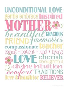 Happy Mother's Day To All ~ 34 Free Mother's Day Subway Art Printables | realhousewifehouston