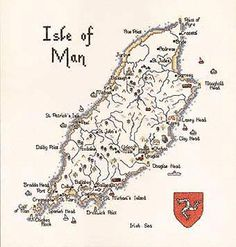Isle of Man Map Cross Stitch Kit By Heritage Crafts