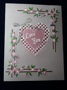 T T heart with pretty floral corners