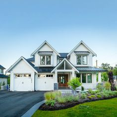✔ 26 farmhouse exterior design ideas stylish but simply look 4 Dream Home Design, My Dream Home, House Design, Dream House Exterior, Dream House Plans, Dream Houses, House Exteriors, Home Exterior Design, Exterior Houses
