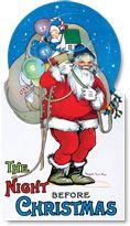 Laughing Elephant Books-Author: Clement C. Moore Childhood Christmas Illustrator: Margaret Evans Price Imprint: Green Tiger Press Santa Claus Shape Books'