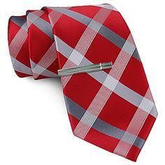 J. Ferrar Color Plaid Tie - jcpenney -- NMHS colors!
