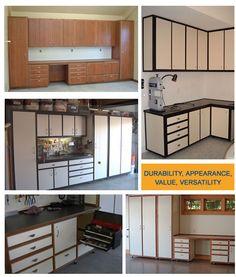 garage cabinet layouts