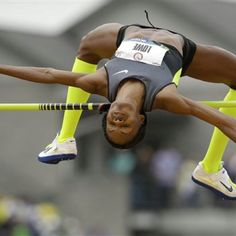 mage detail for -EUGENE, OR - JUNE 30: Chaunte Lowe clears the bar on the way to victory in the Women's High Jump on Day 9 of the 2012 U.S. Olympic Track & Field Team Trials at Hayward Field on June 30, 2012 in Eugene